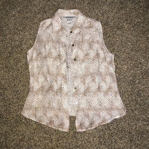 Vintage Alfani linen blouse